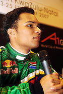 DURBAN - 23 February 2007 - Adrian Zaugg, 21, the driver for Team South Africa speaks to the media at the end of Day 1 at the A1 Grand Prix in Durban..Picture: Giordano Stolley/ Allied Picture Press
