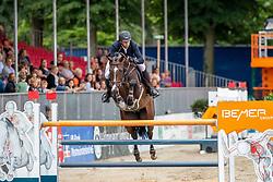 RENZEL Markus (GER), CASSCORD<br /> Münster - Turnier der Sieger 2019<br /> BRINKHOFF'S NO. 1 -  Preis<br /> CSI4* - Int. Jumping competition  (1.50 m) -<br /> 1. Qualifikation Grosse Tour <br /> Large Tour<br /> 02. August 2019<br /> © www.sportfotos-lafrentz.de/Stefan Lafrentz