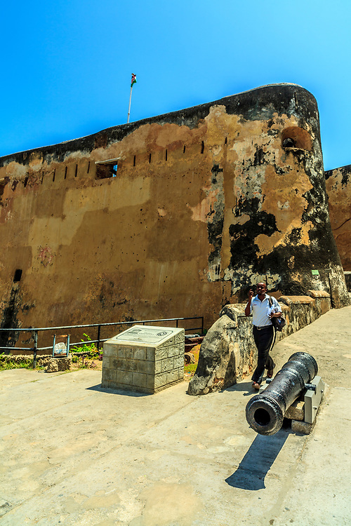 Fort Jesus in Mombasa, Kenya. Portuguese built Fort Jesus fortification in 1593. It is Mombasa's most significant tourist attraction.