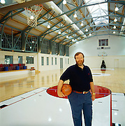 Paul Allen, co-founder of Microsoft and billionaire.  Photographed at his home on Mercer Island where he built a full-court basketball court.