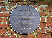 Chaveywell spring information notice plaque, Calne, Wiltshire, England, UK 19th century town water supply
