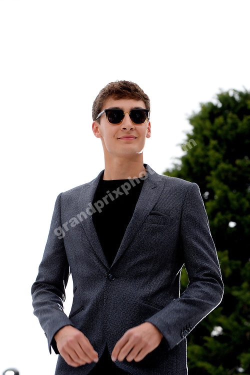 George Russell (Williams-Mercedes) at Amber Lounge fashion show before the 2019 Monaco Grand Prix. Photo: Grand Prix Photo