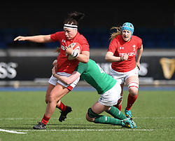 Wales' Amy Evans <br /> Wales Women v Ireland Women<br /> Guinness Six Nations 2019<br /> Cardiff Arms Park<br /> <br /> Photographer Mike Jones/Replay Images<br /> <br /> Guinness Six Nations 2019<br /> Cardiff Arms Park<br /> Cardiff.<br /> 17th March 2019<br /> <br /> World Copyright © Replay Images . All rights reserved. info@replayimages.co.uk - http://replayimages.co.uk