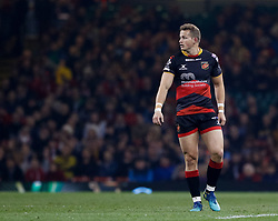 Dragons' Hallam Amos<br /> <br /> Photographer Simon King/Replay Images<br /> <br /> Guinness PRO14 Round 21 - Dragons v Scarlets - Saturday 28th April 2018 - Principality Stadium - Cardiff<br /> <br /> World Copyright © Replay Images . All rights reserved. info@replayimages.co.uk - http://replayimages.co.uk