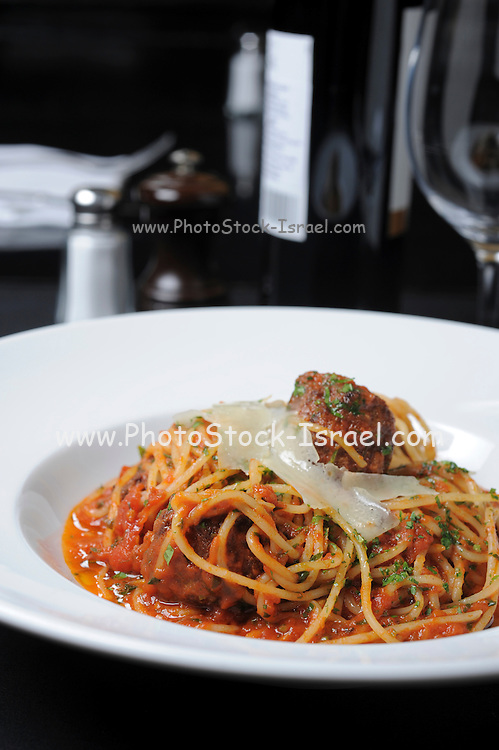 a serving of Spaghetti with tomato sauce