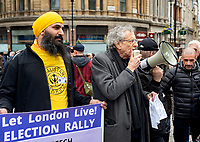 Piers Corbyn at the Let London Live election rally 21st march 2021 photo by Mark Anton Smith