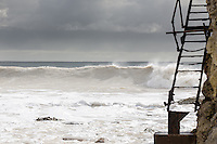Spring swell at Freshwater Bay on the Isle of Wight.