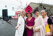 30/07/2015 report free : Winners Announced in Kilkenny Best Dressed Lady, Kilkenny Best Irish Design & Kilkenny Best Hat Competition at Galway Races Ladies Day <br /> At the event was The Judges Bairbre Power, Irish Independent Fashion editor , Maura Derrane RTE, Mandy Maher , Catwalk Models and Melanie Morris Image Magazine. Photo:Andrew Downes, xposure
