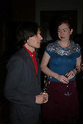 Jeremy Deller and Caroline Butler. Celebration honouring the arrival of Deborah Swallow, director, Courtauld Institute of Art. Courtauld Gallery. Somerset House. 9 December 2004. ONE TIME USE ONLY - DO NOT ARCHIVE  © Copyright Photograph by Dafydd Jones 66 Stockwell Park Rd. London SW9 0DA Tel 020 7733 0108 www.dafjones.com