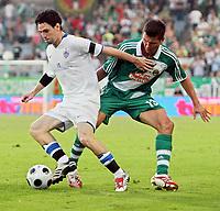 Fotball<br /> Kypros<br /> Foto: Gepa/Digitalsport<br /> NORWAY ONLY<br /> <br /> 06.08.2008<br /> UEFA Champions League Qualifikation, SK Rapid Wien vs Anorthosis Famagusta FC. <br /> <br /> Bild zeigt Vincent Laban (Famagusta) und Markus Katzer (Rapid)