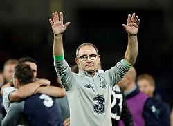 October 9, 2017 - Cardiff, Pays de Galles - Republic of Ireland manager Martin O Neill ONeill celebrates after the match (Credit Image: © Panoramic via ZUMA Press)