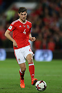 Ben Davies of Wales in action. Wales v Rep of Ireland , FIFA World Cup qualifier , European group D match at the Cardiff city Stadium in Cardiff , South Wales on Monday 9th October 2017. pic by Andrew Orchard, Andrew Orchard sports photography