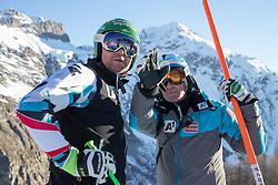 03.12.2016, Val d Isere, FRA, FIS Weltcup Ski Alpin, Val d Isere, Abfahrt, Herren, Streckenbesichtigung, im Bild Klaus Kroell (AUT) Andreas Puelacher (Sportlicher Leiter ÖSV Ski Alpin Herren) // Klaus Kroell of Austria, Andreas Puelacher Austrian Ski Association head Coach alpine Men's during the course inspection for the men's downhill of the Val d Isere FIS Ski Alpine World Cup.. Val d'Isere, France on 2016/12/03. EXPA Pictures © 2016, PhotoCredit: EXPA/ Johann Groder