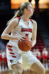 NORMAL, IL - December 04: Lexy Koudelka during a college women's basketball game between the ISU Redbirds  and the Austin Peay Governors on December 04 2018 at Redbird Arena in Normal, IL. (Photo by Alan Look)