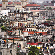 With Cuba's wide varieties of cultures can be seen not only in its people, but also in its diversity in  architecture. The rooftops of Havana also reveal a lack of upkeep due to most Cubans' poor financial status. ltqmb CUBA: ROOFTOPS