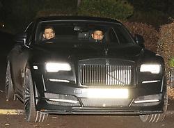 Marcos Rojo in his Rolls Royce Wraith.