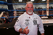 BOXEN: EC Boxing, Hamburg, 06.07.2019<br /> Weltergewicht IBO-Weltmeisterschaft: Sebastian Formella (GER) - Tulani Mbenge (RSA): Winfried Spiering <br /> © Torsten Helmke