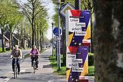 Duitsland, Germany, Deutschland, Kranenburg, 18-4-2019 Europese verkiezingen in de Bondsrepubliek.Verkiezingscampagnel voor het europees parlement vlakbij de grens met Nederland.  Foto: Flip Franssen
