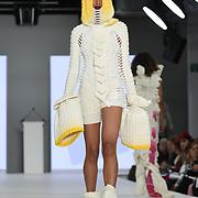 Designer Jacaranda Brain at the Best of Graduate Fashion Week showcases at the Graduate Fashion Week 2018, June 6 2018 at Truman Brewery, London, UK.