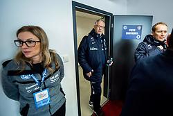 November 13, 2017 - Trnava, SLOVAKIA - 171113 Lars LagerbÅck, head coach of Norway, and Svein Graff, communications director of the Norwegian Football Association (NFF), ahead of a press conference on November 13, 2017 in Trnava..Photo: Vegard Wivestad GrÂ¿tt / BILDBYRN / kod VG / 170056 (Credit Image: © Vegard Wivestad Gr¯Tt/Bildbyran via ZUMA Wire)