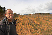 Marc Valette Domaine de Canet-Valette Cessenon-sur-Orb St Chinian. Languedoc. Owner winemaker. The vineyard. France. Europe.