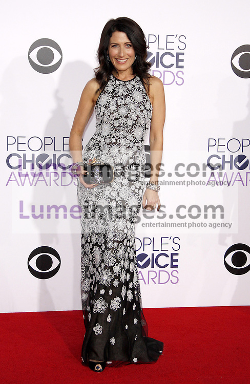 Lisa Edelstein at the 41st Annual People's Choice Awards held at the Nokia L.A. Live Theatre in Los Angeles on January 7, 2015. Credit: Lumeimages.com