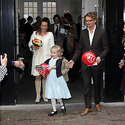 NLD/Apeldoorn/20081101 - Opening tentoonstelling SpeelGoed op paleis Het Loo, Prins Bernhard Jr. met partner Annet Sekreve en kinderen Isabelle en Sam en Maurits en Marilene