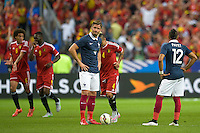 Deception France - Dimitri Payet / Olivier Giroud - 07.06.2015 - France / Belgique - Match amical<br /> Photo : Andre Ferreira / Icon Sport