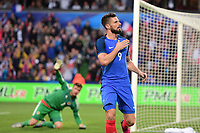 joie de Olivier Giroud (France) apres son but