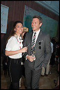 ROSS QUARRELL; MARJORIE DROUAULT, Drinks party to launch this year's Frieze Masters.Hosted by Charles Saumarez Smith and Victoria Siddall<br />  Academicians' room - The Keepers House. Royal Academy. Piccadilly. London. 3 July 2014