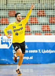 Mario Sostaric of RK Gorenje during handball match between RD Slovan and RK Gorenje Velenje in Round #10 of 1. NLB Leasing liga 2015/16, on November 13, 2015 in Arena Kodeljevo, Ljubljana, Slovenia. Photo by Vid Ponikvar / Sportida