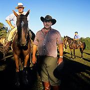 South America, Uruguay, Florida, Gauchos on a ranch or estancia.