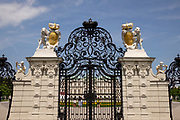 The gates to The Belvedere, it is a historic building complex in Vienna, Austria and houses the Belvedere museum<br />