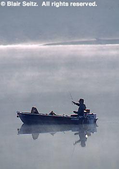 PA landscapes, fishing, Susquehanna River Morning Fog Fishing