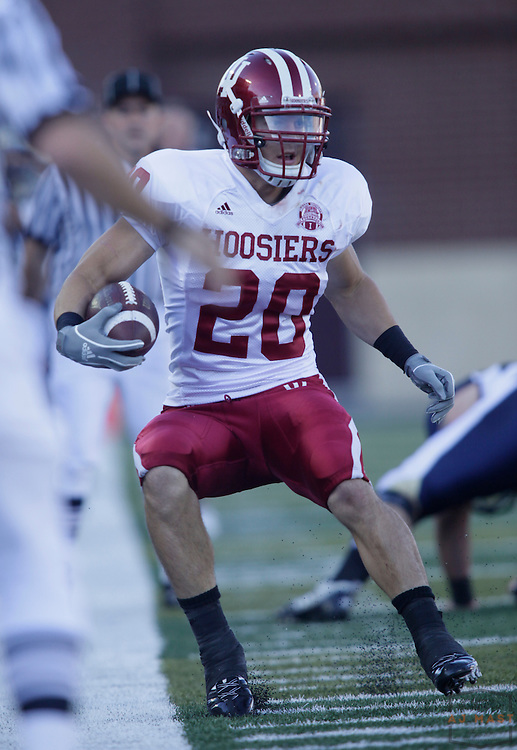 19 September 2009:  Indiana safety Austin Thomas (20) as the Indiana Hoosiers played the Akron Zipps in a college football game in Akron, Ohio.