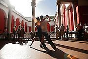 Italy, Genoa, Tango Festival:   the argentinian dancer Erica Boaglio e Adrian Aragon