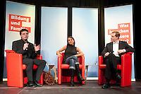 """13 JUL 2009, BERLIN/GERMANY:<br /> Kajo Wasserhoevel (L), SPD Bundesgeschaeftsfuehrer, Katia Saalfrank (M), Diplom-Pädagogin aus der RTL Doku-Serie """"Supernanny"""" und Michael Mueller (R), Landes- und Fraktionsvorsitzender SPD Berlin, Diskussionsveranstaltung zum Thema """"Bildung und Familie"""", Buergerhaus Altglienicke<br /> IMAGE: 20090713-02-164<br /> KEYWORDS: Kajo Wasserhövel, Super Nanny, Michael Müller"""