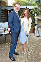 EWAN VENTERS and KATY WICKREMESINGHE at a party to celebrate 'A Year In The Garden' celebrating the first year of The Ivy Chelsea Garden, 197 King's Road, London on 16th May 2016.