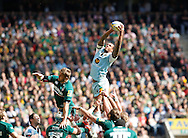 Picture by Andrew Tobin/Focus Images Ltd +44 7710 761829.25/05/2013. Courtney LAWES of Northampton wins a lineout during the Aviva Premiership match at Twickenham Stadium, Twickenham.