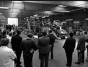 Toyota roll out 10,000th car assembled in Ireland..(L18)..1977..26.05.1977..05.26.1977..26th May 1977..Today saw the rolling out of the 10,000th car to come off the assembly line at Toyota Irl.,Ltd. The car,a Corolla,is part of a range that has made Toyota the fourth best selling range of cars in Ireland..Mr Mahony is pictured addressing the staff on their achievment in assembling 10,000 cars in Ireland.
