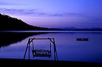 Swimming dock on Fallen Leaf Lake, CA.<br />