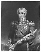 Robert Henry Sale (1782-1845) English general. Mortally wounded at Battle of Mudkhi (Moodkee) 18 December 1845, when Sikhs defeated by British under General Gough. Engraving