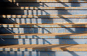 Shadows on the steps of Ostrava railway station, Czech Repubic