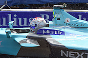 Nelson Piquet Jr of Brazil and Nextev TCR during Round 9 of Formula E, Battersea Park, London, United Kingdom on 2 July 2016. Photo by Martin Cole.