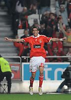 20091217: LISBON, PORTUGAL - SL Benfica vs AEK Athens: Europa League 2009/2010 - Group Stage. In picture: Angel Di Maria (Benfica) celebrating goal. PHOTO: Alvaro Isidoro/CITYFILES