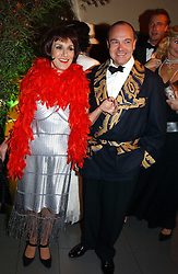 Actress LESLEY JOSEPH and  at Andy & Patti Wong's Chinese New Year party to celebrate the year of the Rooster held at the Great Eastern Hotel, Liverpool Street, London on 29th January 2005.  Guests were invited to dress in 1920's Shanghai fashion.<br />