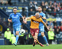 Football - 2017 / 2018 William Hill Scottish Cup (SFA) - Semi-Final: Motherwell vs. Aberdeen<br /> <br /> Curtis Main scores in the match between Motherwell v Aberdeen at Hampden Park.<br /> <br /> COLORSPORT