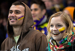 Fans of Maribor during football match between Chelsea FC and NK Maribor, SLO in Group G of Group Stage of UEFA Champions League 2014/15, on October 21, 2014 in Stamford Bridge Stadium, London, Great Britain. Photo by Vid Ponikvar / Sportida.com