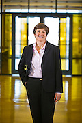 Editorial photography of Carol Reeves at the Walton College of Business at the University of Arkansas in Fayetteville, Arkansas.