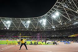 August 13, 2017 - London, STORBRITANNIEN - 170813 Jamaicas Usain Bolt gÅ¡r en segergest vid ett Årevarv under dag tio av friidrotts-VM den 13 augusti 2017 i London  (Credit Image: © Joel Marklund/Bildbyran via ZUMA Wire)